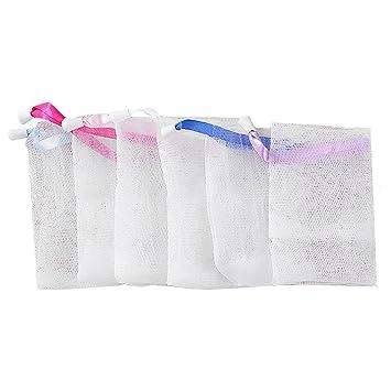 Amazon.com: 6 bolsas de malla de jabón con burbujas de ...