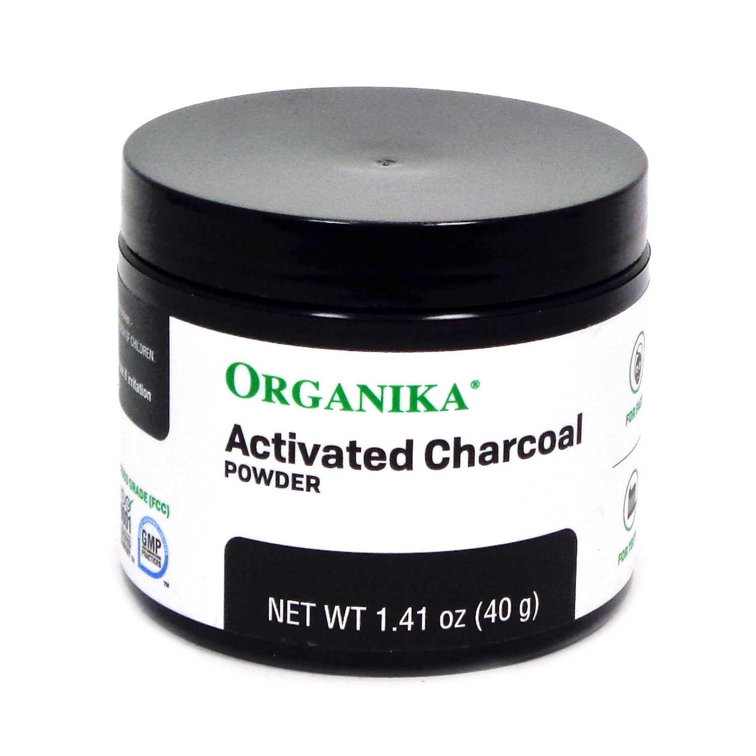 Organika Activated Charcoal Powder, 1.41 Ounce