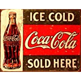 Tin Sign - Coke - C. 1916 Ice Cold , 16x13