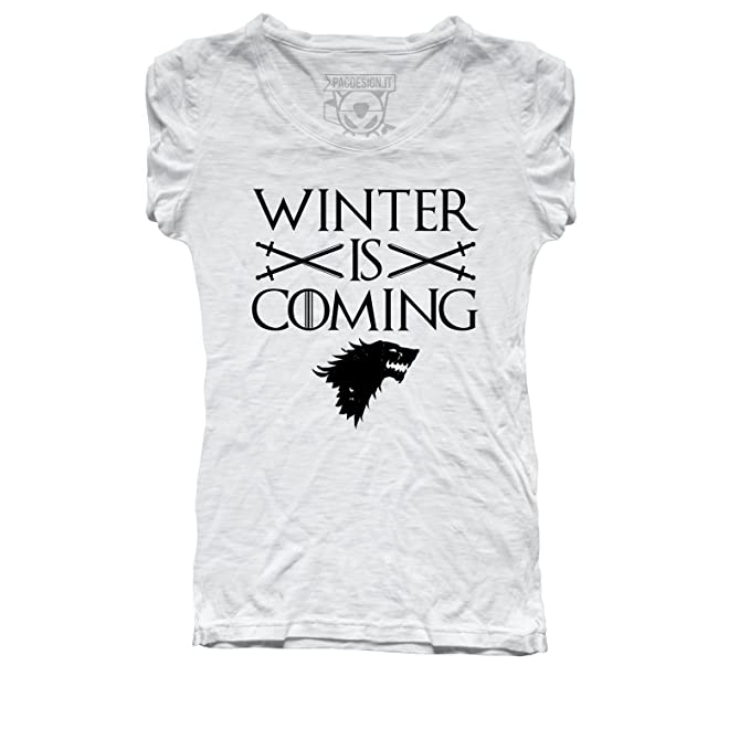 Shirt Taglia M T Of Coming Pacdesign Stark Donna Winter Is Game 8POnk0XNwZ