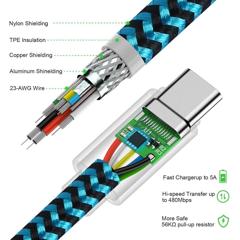 Durable Nylon Tress/é Type C Chargeur Rapide C/âble pour Tous Les mod/èle Huawei Type-C Huawei P30 Pro//Huawei P30 Lite DUX DUCIS C/âble pour Huawei P30 3.3ft//1M