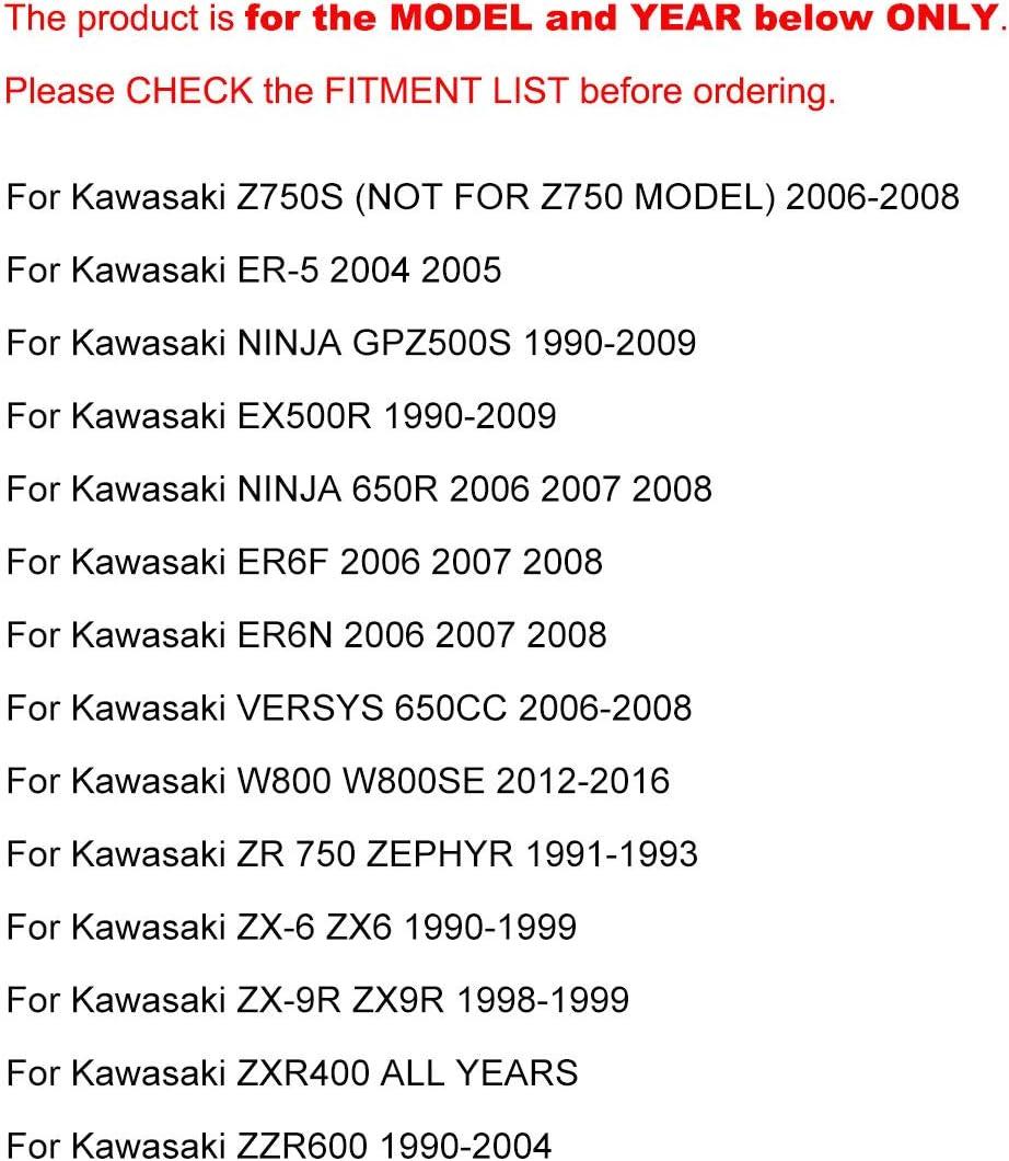 Kit Levier dembrayage et Levier de Frein CNC pour Kawasaki ER5 2004 2005 Ninja GPZ500S EX500R 1990-2009 NINJA650R ER6F//N VERSYS 650CC Z750S 2006-2008 W800 2012-2016 ZR750 ZX6 ZX9R ZXR400 ZZR600