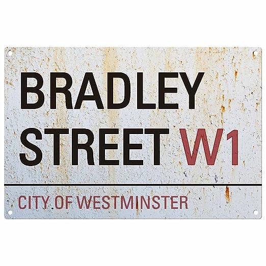 Personalizado Apellido Cartel del Camino de Londres: Bradley ...