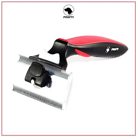 Cepillo para perros deShedding, de Profti, cuidado del pelaje, para pelo largo/pelo corto, perros/gatos grandes/pequeños