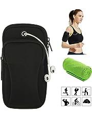 Moliwen Fitness Bras Sport Porte Monnaie Pochette Sac Smartphone  Portable jusqu'à 6 Pouces, Compatible avec Iphone 6s 7 8 XS X plus, Samsung Galaxy S7 S8 S9, Edge, Note 8, Pixel 2, Huawei