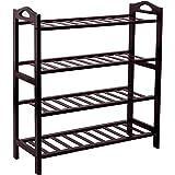 SONGMICS 100% Bamboo 4-Tier Shoe Rack Entryway Shoe Shelf Storage Organizer, ULBS94Z