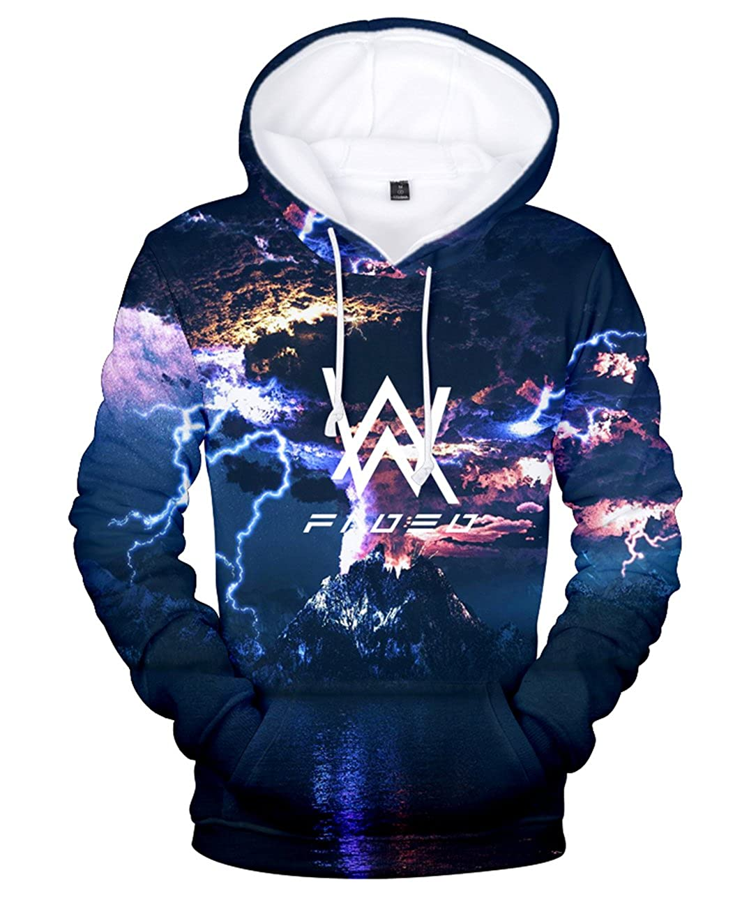 ZIGJOY Alan Olav Walker 3D Printed Sweatshirt Fashion Music Hoodie Men Women at Amazon Womens Clothing store: