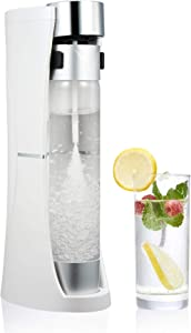 CO-Z Desktop Sparkling Water Maker, 1 Liter Homemade Soda Pop Maker Machine, 1.75 Pint Seltzer Water Fizzy Drink and Soda Machine for Home, Countertop Fizzy Water and Carbonated Soda Maker, White
