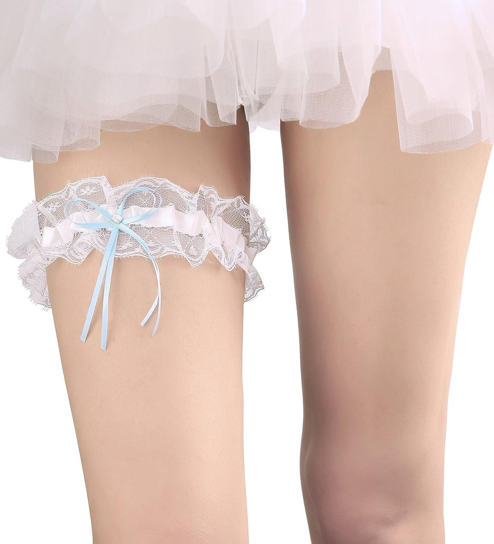 Wedding Garter Bride Pearl Ribbon Leg Ring Throwaway Toss Wedding Prom