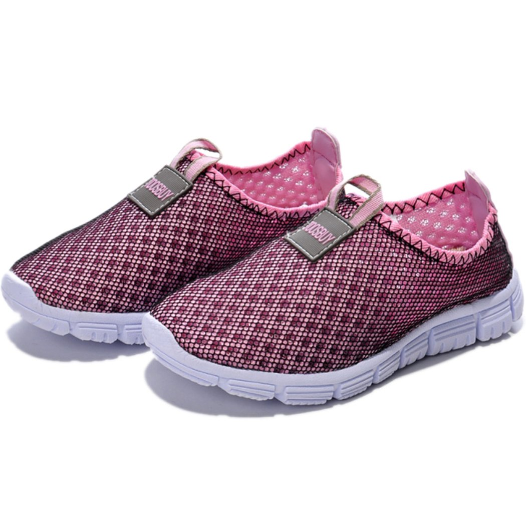 ADI Children's Breathable and Durable Mesh Running Shoes,Outdoor,Beach Aqua,Walking,Anti-Slip Sneakers EU38 Pink