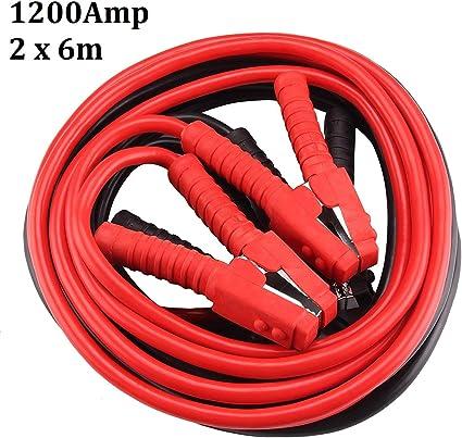 Multiware Starthilfekabel Set Überbrückungskabel Starterkabel Kabel 1200amp 2 X 6m Kfz Pkw Auto