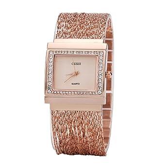 e136c4ec935 Ladies Square Crystal Bracelet Dress Wrist Watch for Women - Female Rose  Gold