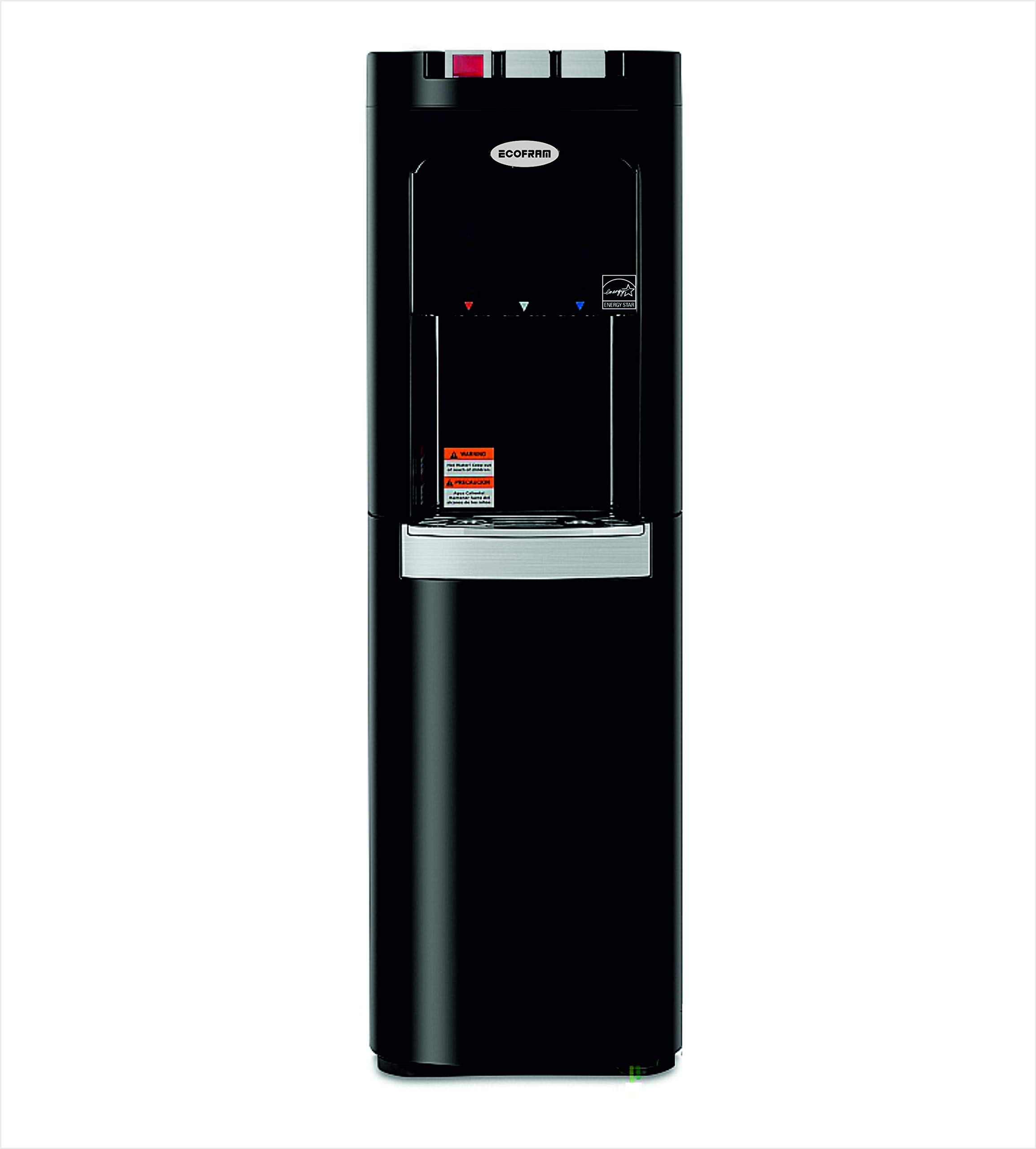 ECOFRAM Commercial Grade, Heavy Duty Built, Water Cooler, Tall Top Loading Hot, Cook and Cold Water Dispenser