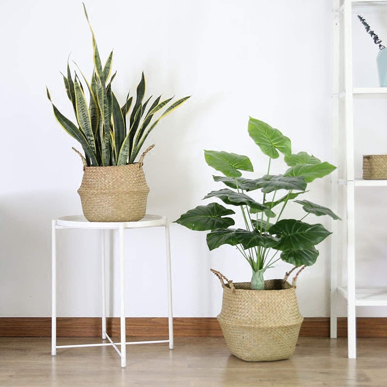 picnic y cesta de comestibles Yeyll cesta de lavander/ía Cesta para el vientre de pasto marino tejida para almacenamiento de plantas