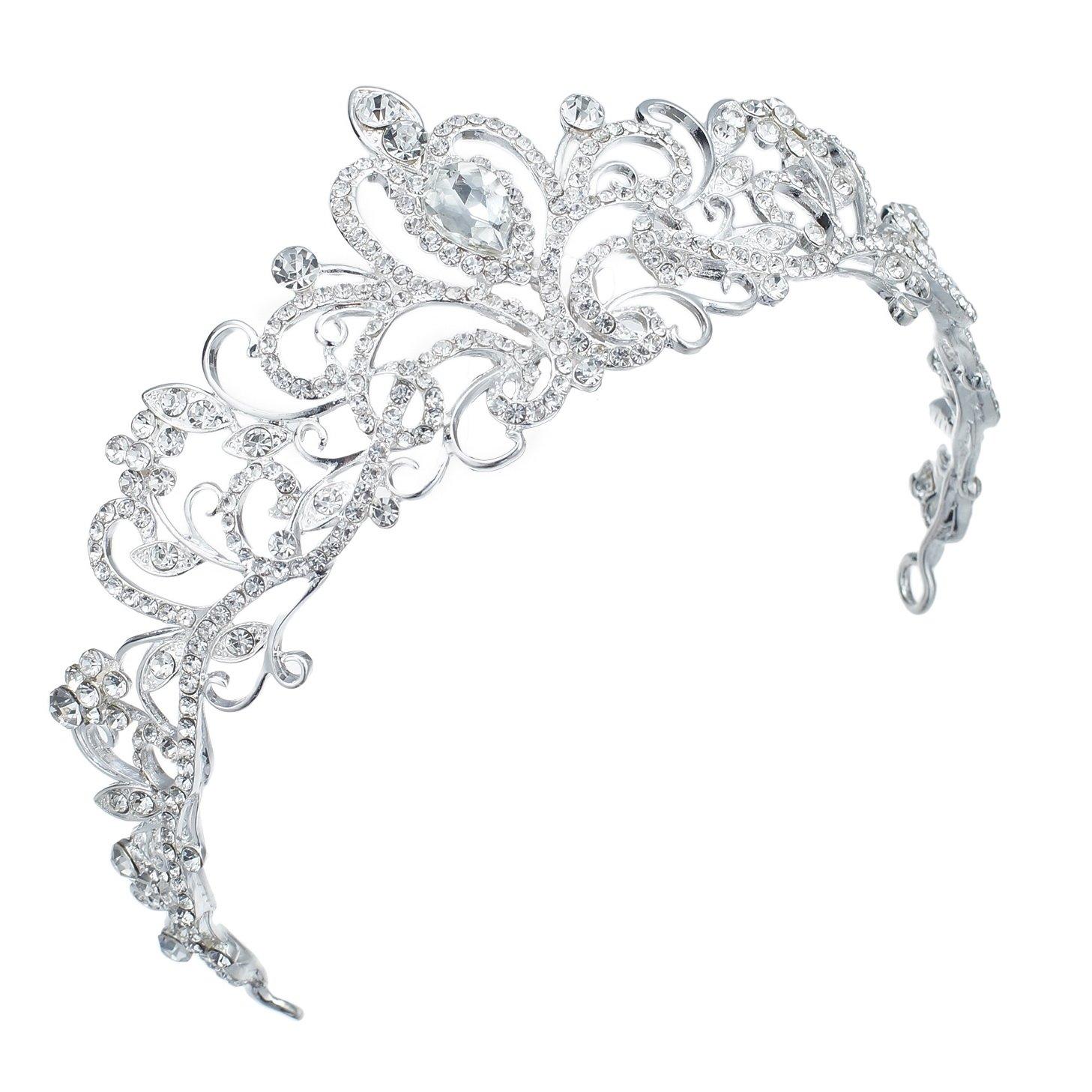 TQ-01 Holy White Clear Rhinestone Crystal Alloy Bridal Wedding Tiara Crown TQ-01_C