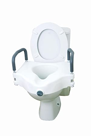 2 In One Toilet Seat. Drive DeVilbiss Healthcare Elevated  2 in 1 Toilet Seat with Removable Arms