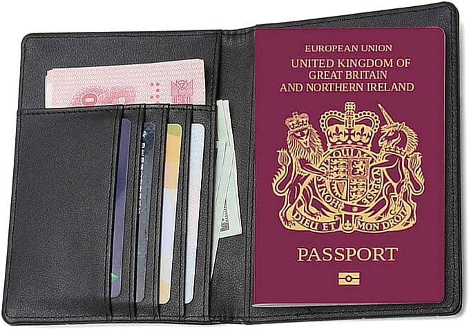 TCHEER Cartera de viaje, funda de piel con bloqueo RFID para pasaporte con cartera para tarjetas de crédito, dinero, embarque, pasaporte, protector para hombres y mujeres Marrón café small: Amazon.es: Equipaje