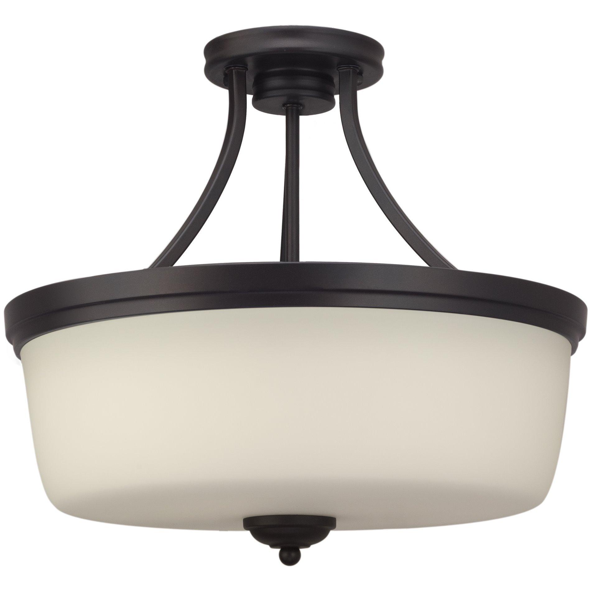 """Revel Kingston 16"""" Traditional Semi Flush Mount Ceiling Light"""