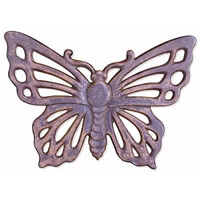 Sunset Vista Designs Garden Cast Iron Stepping Stone - Butterfly : Outdoor Decorative Stones : Garden & Outdoor