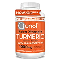 Turmeric Curcumin Capsules Qunol with Ultra High Absorption 1000mg, Joint Support, Dietary Supplement, Extra Strength, 30 Vegetarian Capsules