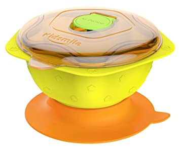 Baby Bowls With Snap Tight Lids Spill Proof Stay Put Suction Bowl