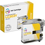 LD Compatible Ink Cartridge Replacement for Brother LC203Y High Yield (Yellow)