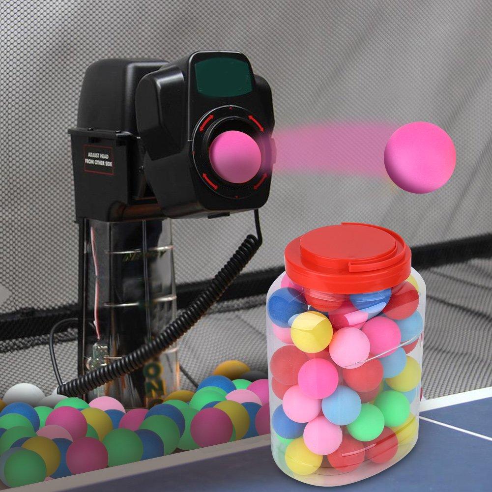 VGEBY Bola de Ping-Pong Colorida Tarro pl/ástico de los Accesorios Decorativos de los Deportes de Las Bolas Decorativas del Regalo del Juego de Las Bolas del Tenis de Mesa