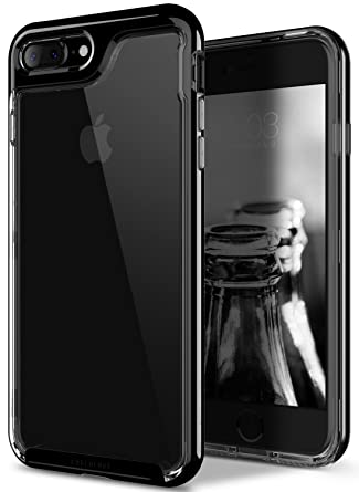 apple iphone 7 plus jet black. amazon.com: caseology [skyfall series] transparent clear slim scratch resistant cover drop protection for apple iphone 7 plus - 8 jet black: iphone black