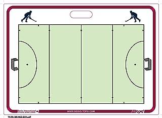 TOPO TR5171 Tableau Tactique Mural Rigide Hockey sur Gazon Mixte Adulte, Blanc/Bleu TOQC2|#TOPO