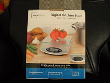Mainstays Digital Kitchen Scale by Mainstays Digital Kitchen Scale: Amazon.es: Hogar