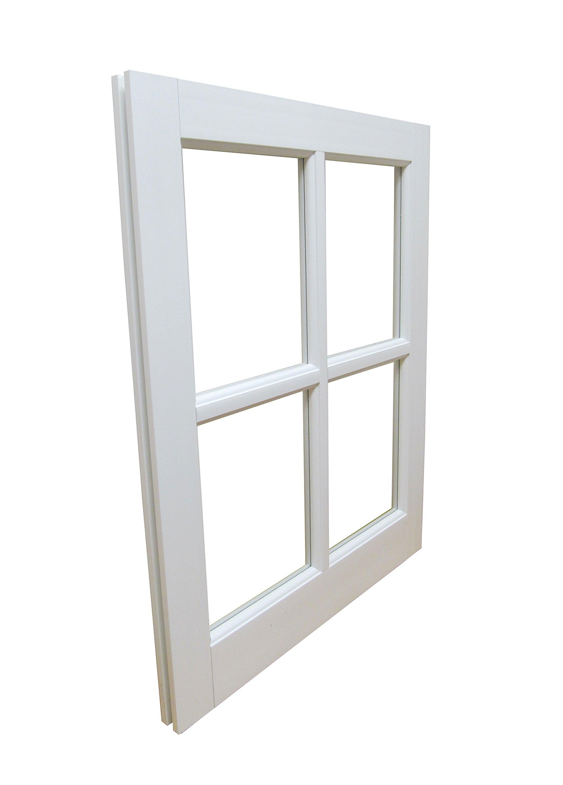 Barn Sash Window PVC 20'' x 25'' Traditional Style 4 lite
