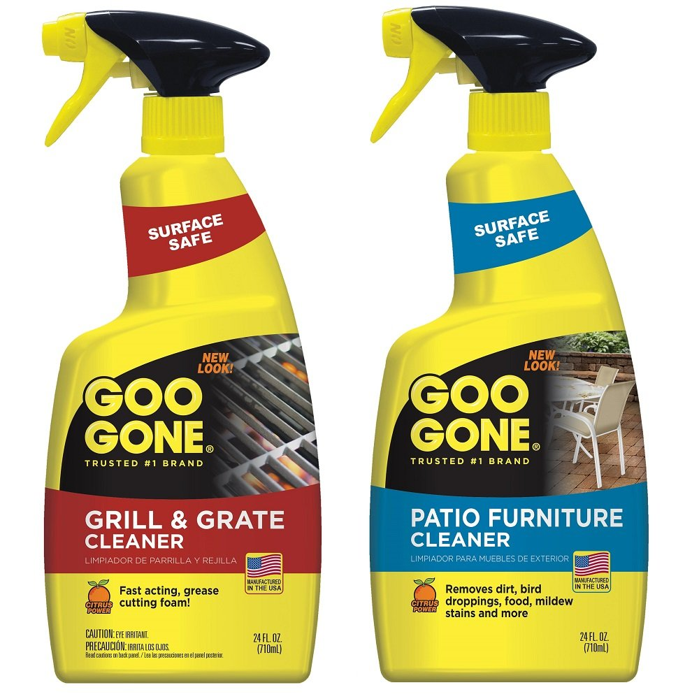 Goo Gone Grill & Grate Cleaner, 24 Fl. oz, and Goo Gone Patio Furniture Cleaner, 24 Fl. oz. - Grill Cleaner and Outdoor Furniture Cleaner