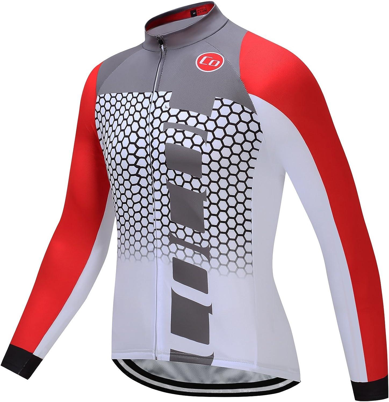 Details about  /Winter Herren Radfahren Fleece Thermo Fahrradtrikot Jacke Radhosen Langarm