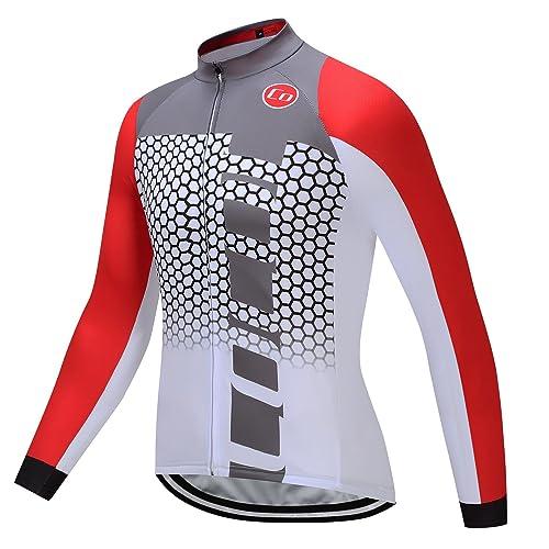 Coconut Ropamo Winter Thermal Fleece Men's Cycling Jersey Long Sleeves Bike Shirt Cycling Jacket Riding Long Sleeve Sportswear