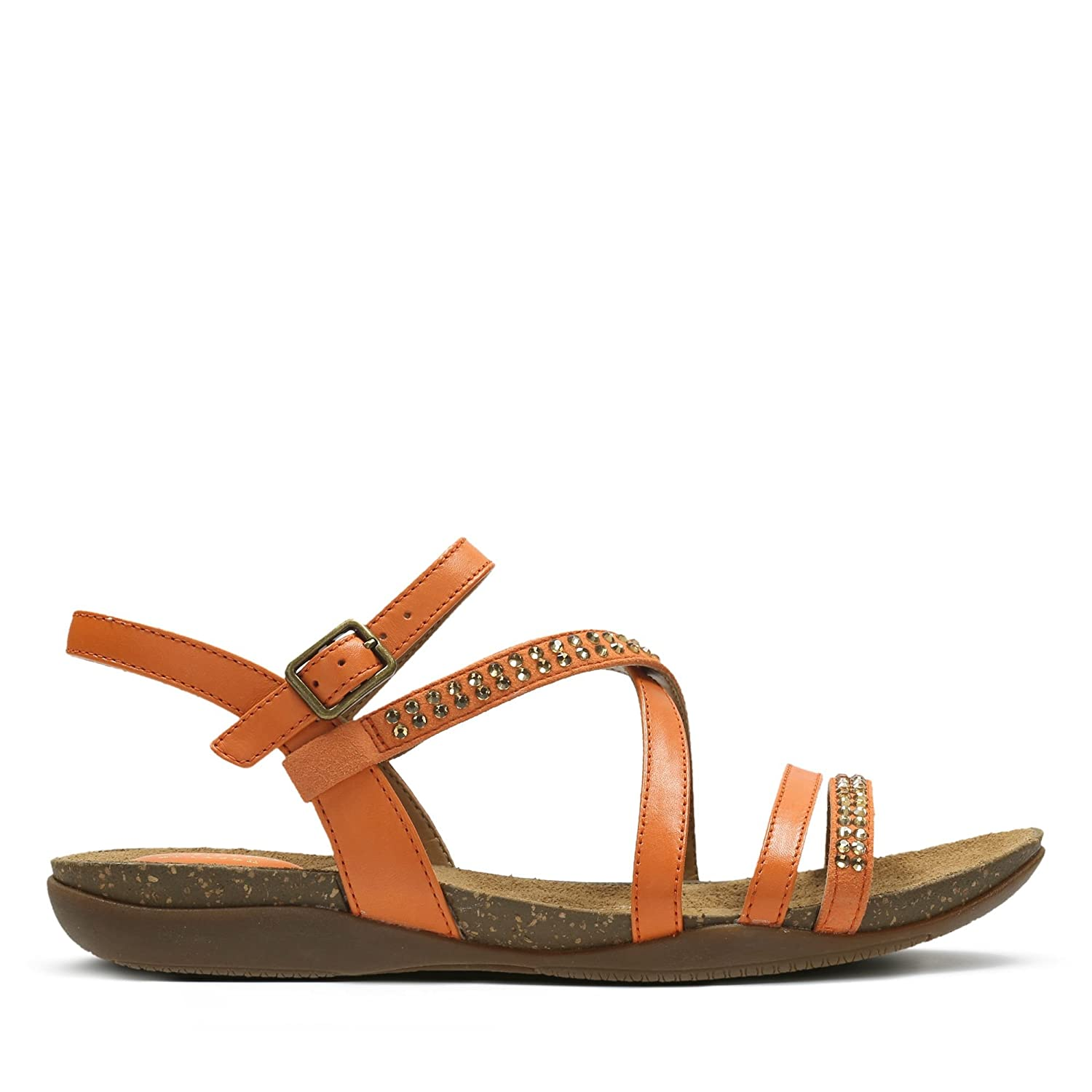 5c0dde27a Clarks Autumn Peace Leather Synthetic Sandals in Orange  Amazon.co.uk  Shoes    Bags