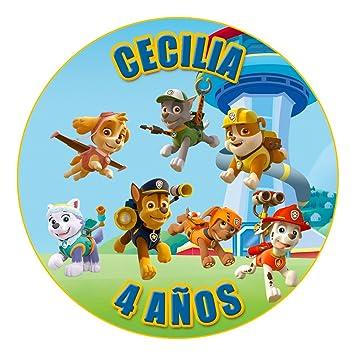 OBLEA de Papel de azúcar Personalizada, 19 cm, diseño de La Patrulla Canina 2: Amazon.es: Juguetes y juegos
