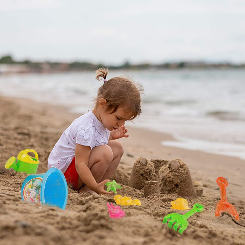 Czemo Juguetes de Playa Conjunto 8 Piezas Conjunto de Juguetes Arena con Cubo de Arena Palas Rastrillo Herramientas para ni/ños