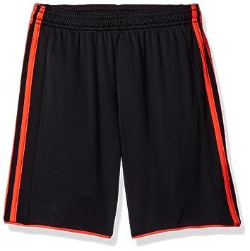 adidas black orange soccer shorts