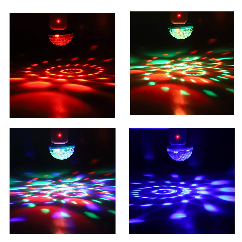 TOOGOO Led Car USB Atmosphere Light Dj RGB Mini Colorful Music Sound Lamp USB-C Phone Surface for Festival Party Karaoke Black
