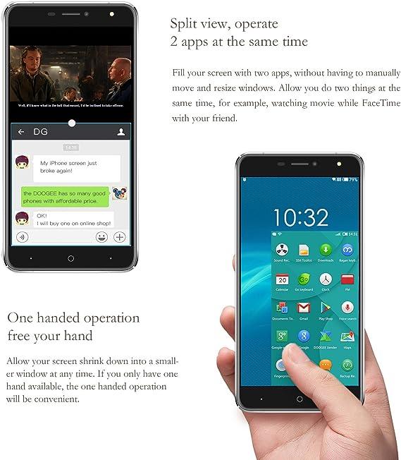 DOOGEE X7 Pro Telefonos Moviles, 4G Móviles y Smartphones Libres (6 Pulgadas IPS, Android 6.0, Soporta VR, OTA, 2GB+16GB, MT6737 Quad Core, Dual SIM): Amazon.es: Electrónica