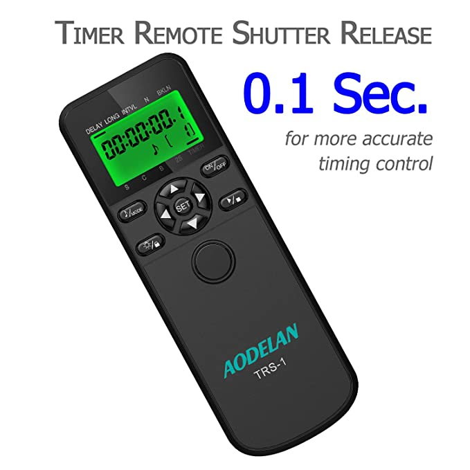 Amazon.com: Timer Remote Shutter Release and Intervalometer with LCD and HDR for Sony a6000 a5100 a7II and for Minolta Cameras: Beauty