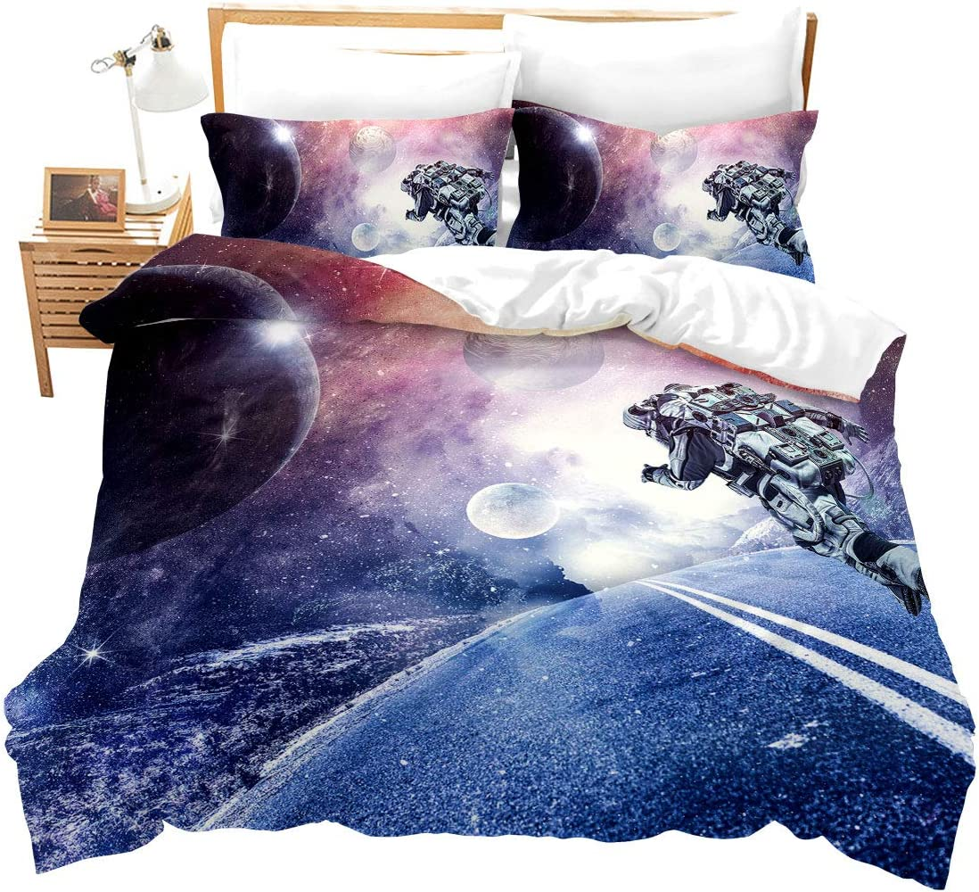 Erosebridal Wolf Duvet Cover Twin Size Boho Colorful Animal Bedding Set Wildlife Comforter Cover Abstract Exotic Style Design Quilt Cover with 1 Pillow Sham,Soft Breathable,Watercolor