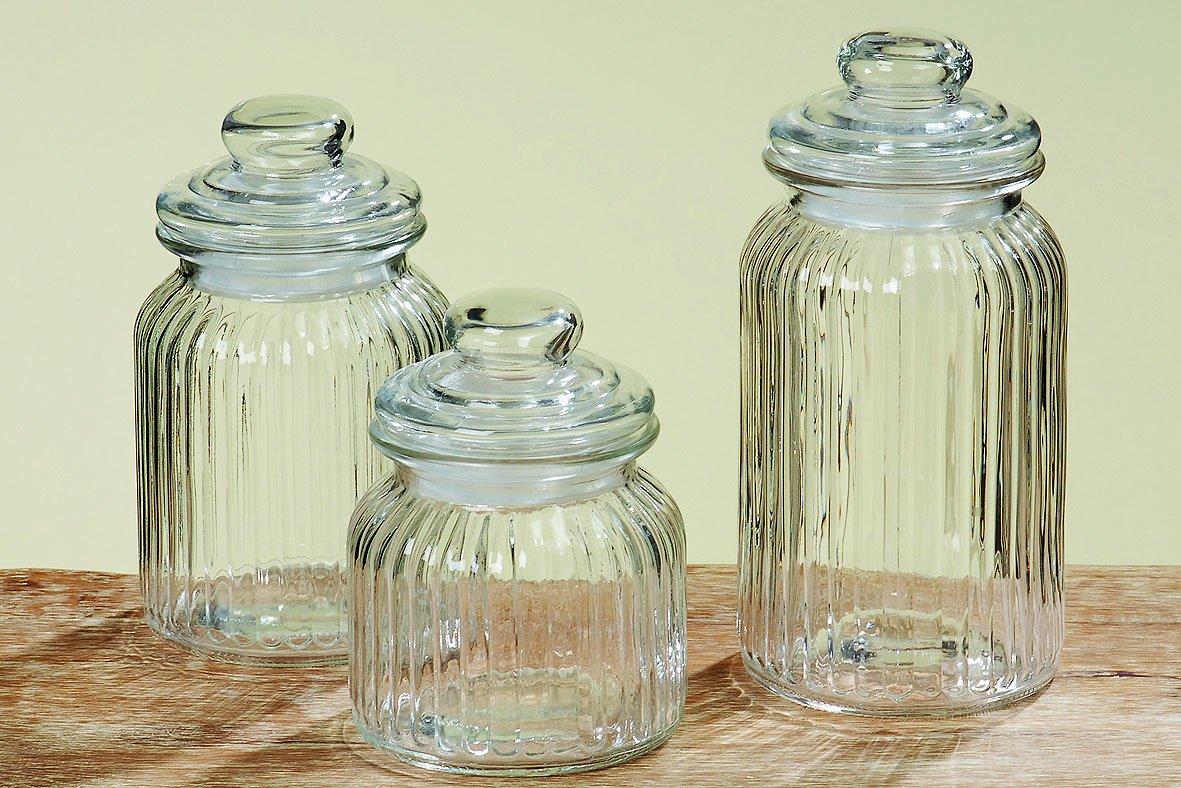 Boltze - Botes de cristal, 3 unidades, altura de 15 a 23 cm