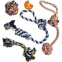Umile Nuevo Juguete de Cuerdas para Perro 4 EN 1, Juguetes para Cachorros. Juguetes para Perros pequeños a medianos (Juego de 4) Cuerdas Interactivas para Entrenamiento. Rope Toys for Dogs.