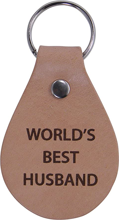 Amazon.com: World\'s Best Husband Leather Key Chain - Great Gift for ...