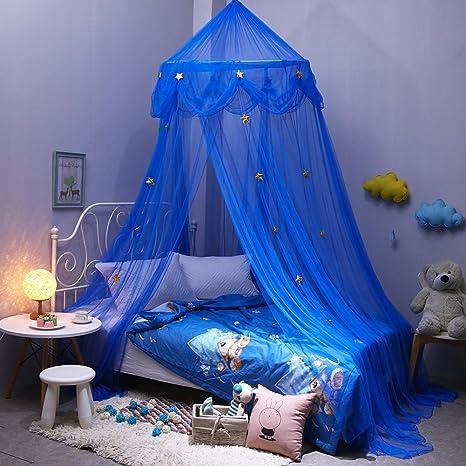 Moustiquaire Pour Enfants DE Bébé Blue Star Dreamy Fantasy étoile à - Lit rond suspendu