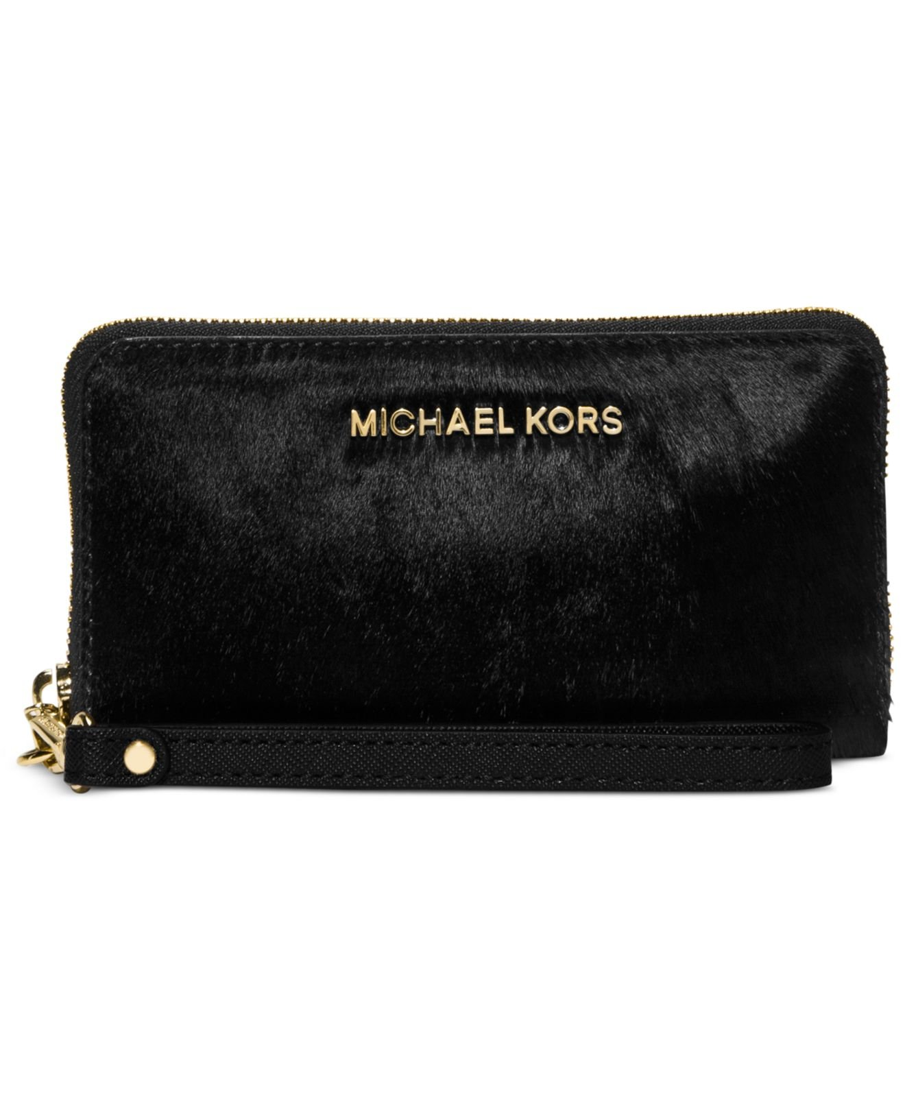 Michael Jet Set Travel Calf Hair Large Coin Multifunction Phone Case by Michael Kors