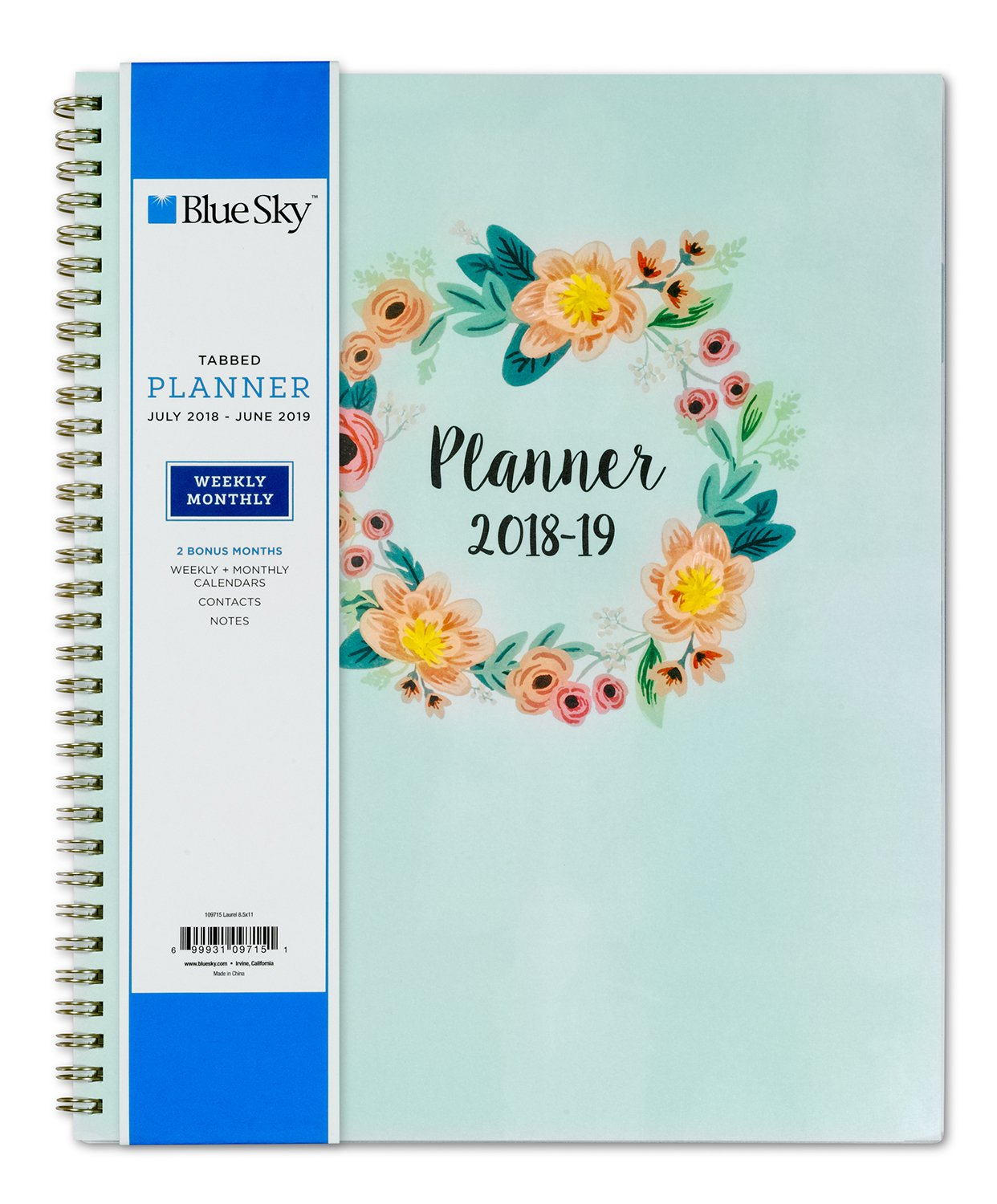 Amazon.com : Blue Sky 2018-2019 Academic Year Weekly & Monthly ...