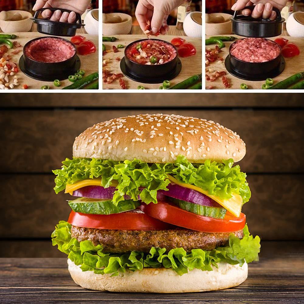 prensa de hamburguesas de relleno grande antiadherente da forma a la patty deliciosa perfecta cada vez Kit de prensa para hamburguesas - Give 60 Wax Patty Papers