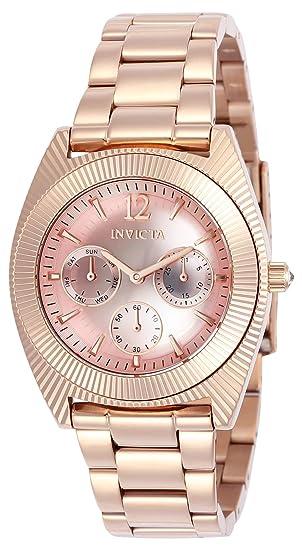 Invicta 23750 Angel Reloj para Mujer acero inoxidable Cuarzo Esfera rosa   Amazon.es  Relojes 76fcef675f63